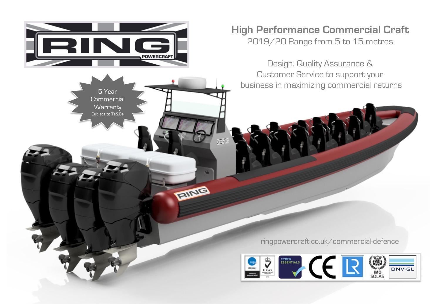 Ring Powercraft launches 2019/20 Range of Commercial Boats